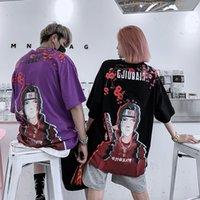 Manga curta T-shirt Casal Casual Joker Juventude Moda camiseta Hip Homens Anime de Naruto Hop Rua Vestido Top CX200702