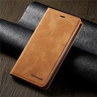 Luxury Leather Magnetic Flip wallet case for iphone 11 pro m...