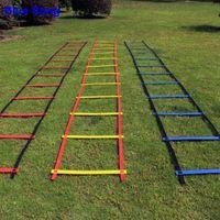 Marke Firma wird nicht brechen 10 Crossbar Breite 20.5inch (52cm) Länge 5M Fussball Koordinationsleiter für Fußball-Speed-Trainingsgeräte