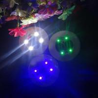 1000pcs LED 코스터 반짝이 전구 병 컵 매트 색상 클럽 바 홈 파티 사용 프로모션 가격에 대 한 빛을 변경