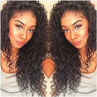 Parrucca anteriore del pizzo del pizzo del pizzo dei capelli umani del 100% di Kinky Curly per le donne ricci 360 parrucche frontali precipitate 130% di densità