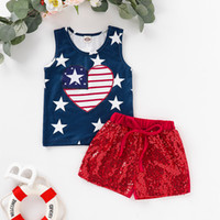 MUQGEW Toddler Baby dress 4 luglio Stars e Stripe Print Top patriottici + Shorts Outfits # 4