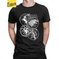 Game Of Thrones T- Shirt Four House House Stark Targaryen Lan...