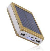 30000mAh Caricabatterie solari a batteria portatile Camping Light Doppia USB Solar Energy Panel Back Power Bank con luce a LED per tablet tablet per telefono cellulare