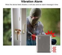 Intelligente Türalarmsystem GSM Tracker Home Security LBS RF-V13 Echtzeit-Tracking-Gerät Sprachmonitor Vibrationsalarm Free Web APP