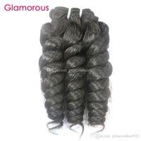 Glamorous Verhältnis Curly Menschenhaar-Webart Günstige brasilianische Webart 1 Stück Natural Color peruanischer Indian Malaysian Virgin Haarbündel 100g / pcs