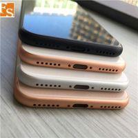 iPhone 6 Düğmeler 6P 6S 6SP 6sPlus Arka Konut Kapak gibi iPhone 8 8 Artı Stil Metal Cam Arka Kapak Değiştirme için