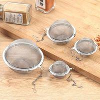 Acero inoxidable Esfera de bloqueo de la especia de la bola de té colador de malla infusor colador de té Filtro infusor Herramientas de malla a base de plantas de té bola de cocina
