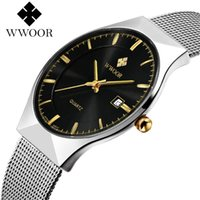 2018 WWOOR Ultra Thin Fashion Male Wristwatch Top Brand Luxu...