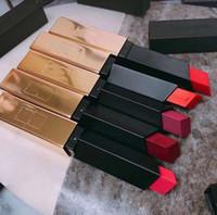 패션 메이크업 무광택 립스틱 키트 6 색상 세트 작은 골드 바 루지 PUR Couture 슬림 매트 립스틱 무료 빠른 배송 선물 상자