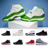 11 11s Men Basketball Shoes Platinum Tint 11 Cap and Gown co...