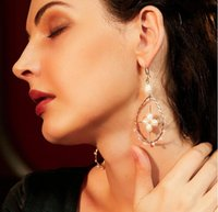 2020 Original-Barock-natürliche Frischwasserperlen-Ohrring-lange Art-Ohrring-Retro- Wasser-Tropfen-Ohrringe handgemachte Accessoires