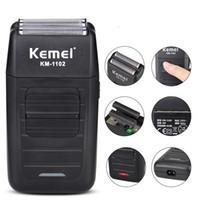 Kemei Elektrik Jilet Tıraş Yüz Bakımı MultifunctionElectric Jilet tıraş makinesi erkek Barber Giyotin Şarj edilebilir 5