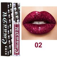 2019 nuevo maquillaje CmaaDu Mate 6 colores lápiz labial líquido a prueba de agua y de larga duración cráneo Tupe Barras de labios Lip Gloss Maquillaje 3001318