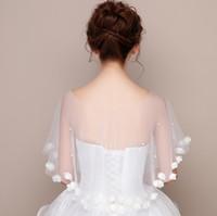 2019 Version coréenne des fleurs de la dentelle de la mariée de la mariée de la mariée Été et automne Robe de mariée châle