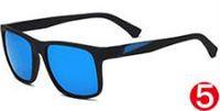 estate nuovo arrivo occhiali da sole stile classico da uomo occhiali da sole di colore abbagliante elegante nero opaco telaio lente grigio acrilico spedizione gratuita