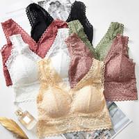 Bras lingerie de renda Tamanho Grande Hot Sale fench Estilo Sexy Ladies Lace Push Up Bra Preto Bralette V da Women profunda