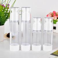 30ml / 50ml Kunststoff Transparent Airless Pumpe Parfüm Vacuum Sprühflasche Kunststoff Reisen Flasche nachfüllbare Kosmetik-Flaschen Sprühflasche