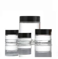 200Pcs / lot 5g 10g 15g 20g 30g 50g Creme Flasche Foundation Salbe Gesichtscreme Makeup Loose Powder leere Runde Glasgläser kosmetische Behälter