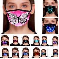 3D Kelebek Tasarımcı Maskeler Pamuk Baskılı Ağız Kadınlar Erkekler Resuable Yıkanabilir Koruyucu 21 Styles HH9-3083 Maskesi