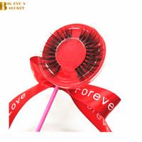 Lolipop Tam Şerit Güzellik Yanlış Kirpik Samantha Uzantıları El Yapımı Lashes 3D Vizon Kirpik Göz Lashes Makyaj Güzellik Priivate Logo