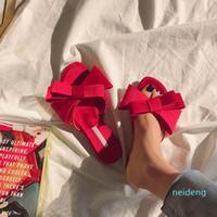 حار بيع الفراشة عقدة النعال والأحذية البغال تصميم أزياء المرأة الصيف عن تخصيص القوس عقدة الشرائح المرأة الوجه يتخبط