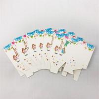 Scatola di caramelle per unicorno Cartoon Stampa Scatole di popcorn colorate Involucro bianco per festival Piccolo involucro di carta Nuovo arrivo 3jw L1