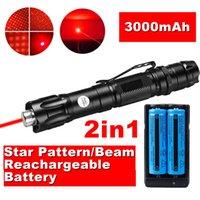 900miles Grande 2in1 천문학 1MW 650nm 스타 빔 강력한 레드 레이저 포인터 교육 충전식 군사 빛 + 배터리 + 충전기 + 벨트 클립
