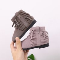 Children' s Shoes Genuine Leahter Baby Girls Cotton Boot...