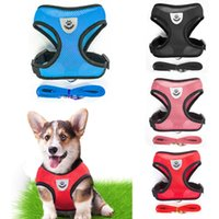 Breathable Mesh Small Dog Pet Harness and Leash Set Puppy Ca...