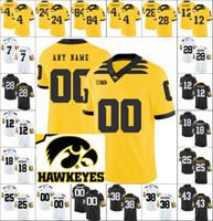 Benutzerdefinierte 4 Tevaun Smith Iowa Hawkeyes 28 Toren junger College-Fußball personalisierte nähte name ja nummer jugendliche jugend frauen torneys