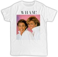 GEORGE MICHAEL WHAM POSTER IDEAL REGALO COMPLEANNO PRESENTE COOL RETRO T SHIRT colore jersey Stampa maglietta