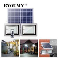 Eyoumy 1ソーラーパネルドライブ2の投光照灯100W 80 LEDの調光可能な明るさモードが付いている前面ドア、ヤード、ガレージ、デッキ