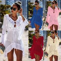 Frauen Sommer Sonnenschutz Bluse Kleider Strand atmungsaktiv Fashion Solid 8 Farben Male heiße Verkaufs-Kleidung