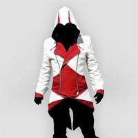 Männer Jacken Assassins Creed Halloween Kostüm Erwachsene Männer Casual Streetwear Hoodedoutwear Edward Cosplay Jacke Mäntel Mäntel