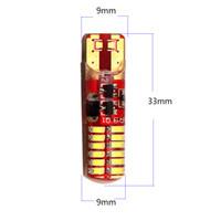 30X T10 3014 24 SMD LED Silica gel della luce bianco freddo T10 W5W 194 168 3014 24 LED Flash Light Car Strobe Porta 10000K Super Bright