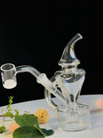 Hot small recycler glass bong portal smoking pipe water pipe...