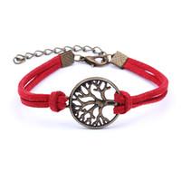 2019 vendita calda moda albero della vita braccialetti di fascino braccialetti in pelle moda multistrato albero della vita gioielli