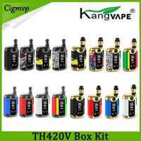 100% Original Kangviape Th-420 V Box Kit 800mAh PREHAT BATERIA 0.5ML Tanque de Cartucho de Cerâmica de Óleo Espesso Th420 Mod Authentic