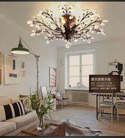K9 Lámparas de techo de cristal K9 Lámpara de cristal retro Luz del vintage para la barra de café Restaurante Iluminación Luminaria Teto Pendente