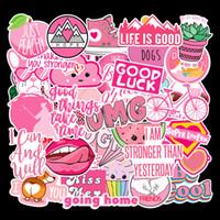 40 шт. лот Розовое сердце девушки водонепроницаемый ПВХ съемные наклейки ноутбук скейтборд гитара чемодан автомобиль мотоцикл велосипед граффити наклейки