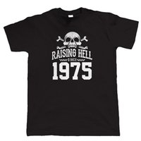 Raising Hell 1975 Biker T Gömlek yana baba dede doğum günü için Hediye Casual gurur t gömlek erkekler Unisex Yeni Moda tshirt Soğuk