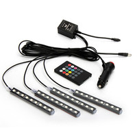 4 шт. / Установлен автомобильный укладчик RGB Lights 36LEDS 72LEDS STILL Свет декоративные атмосферные лампы Auto Внутренние аксессуары с дистанционным управлением