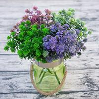 Одна связка Пластик Зеленое Растение Искусственный Цветочный Лотос Зелень Трава Букет для Свадьбы Центральные Растения Украшения Стены
