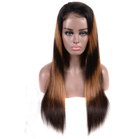 F1b 30 Ombre 4*4 Lace Front Human Hair Wigs For Black Women ...