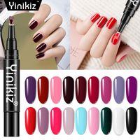 12pcs / lot One Step Gel UV LED polacco Immergere vernice di arte della penna Off Gel Lacquer per il manicure 3 in 1 Nail