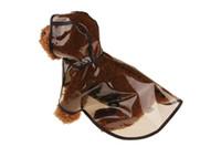 صديقة للبيئة 10PCS الجملة الحيوانات الأليفة المطر المعطف معطف واق من المطر الحيوانات الأليفة الكلب المطر سترة الكلب المطر الملابس بني أخضر اللون 10 المقاسات