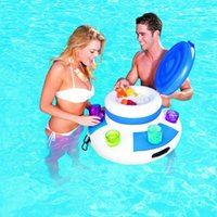Inflatable Ice Bucket Pool Floats Adults Plastic Ice Cubes D...