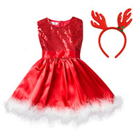 Baby Girl Christmas Clothes Girls Sequined Princess Dress Fe...