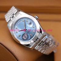 2019 9 Styl Luksusowy Najlepszy Edycja Zegarek EF 41mm II 316L Cal.3255 Ruch Automatyczny zegarki męskie zegarki